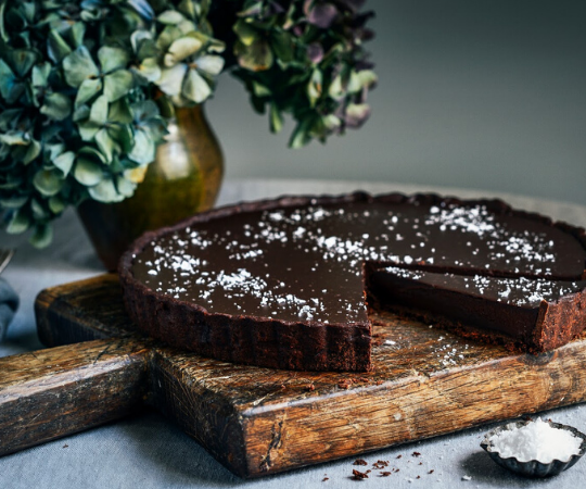 The Amazing Recipe for Salted Dark Chocolate Tart